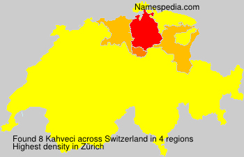 Surname Kahveci in Switzerland