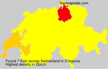 Surname Kain in Switzerland