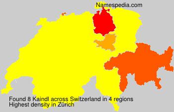 Surname Kaindl in Switzerland