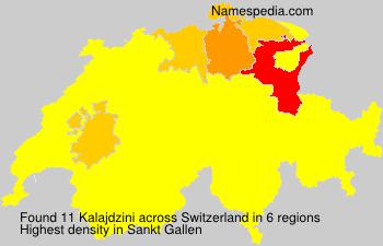 Surname Kalajdzini in Switzerland