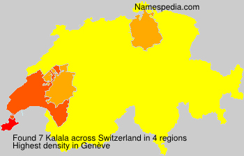 Surname Kalala in Switzerland