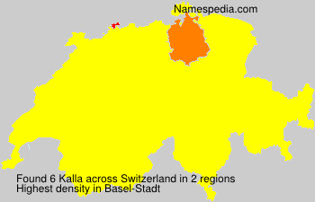 Familiennamen Kalla - Switzerland