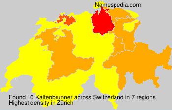 Familiennamen Kaltenbrunner - Switzerland