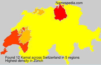 Surname Kamal in Switzerland