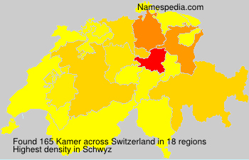 Surname Kamer in Switzerland
