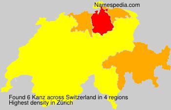 Surname Kanz in Switzerland