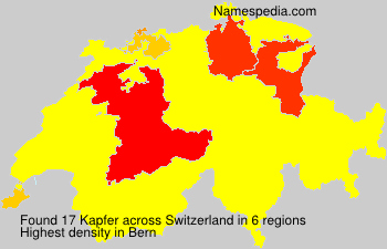 Surname Kapfer in Switzerland