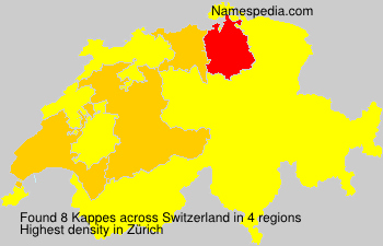 Surname Kappes in Switzerland
