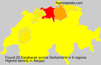 Surname Karabacak in Switzerland