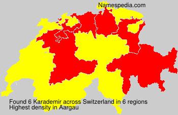 Surname Karademir in Switzerland