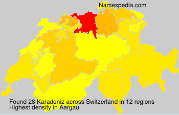 Surname Karadeniz in Switzerland