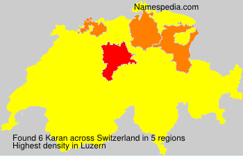 Surname Karan in Switzerland