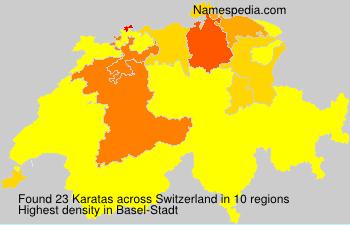 Surname Karatas in Switzerland