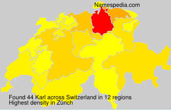 Surname Karl in Switzerland
