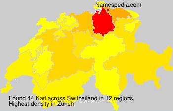 Surname Karl in Switzerland