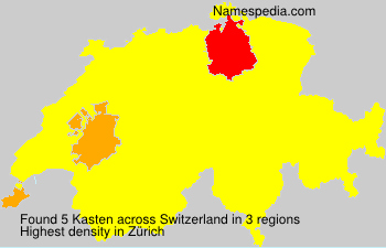 Surname Kasten in Switzerland