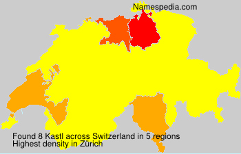 Surname Kastl in Switzerland