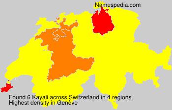 Surname Kayali in Switzerland