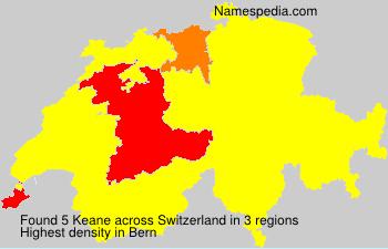 Surname Keane in Switzerland