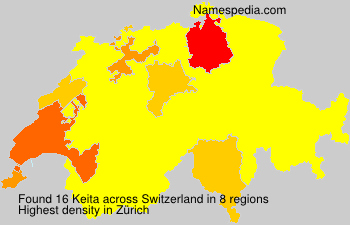 Surname Keita in Switzerland