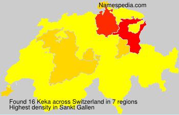 Surname Keka in Switzerland