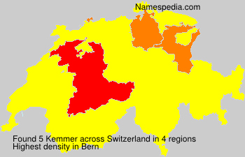 Surname Kemmer in Switzerland