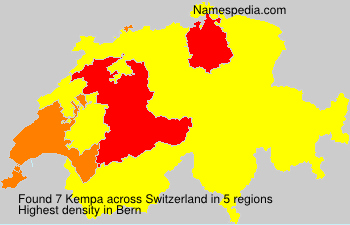 Surname Kempa in Switzerland