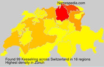 Surname Kesselring in Switzerland
