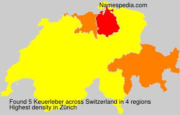 Surname Keuerleber in Switzerland