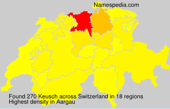 Surname Keusch in Switzerland