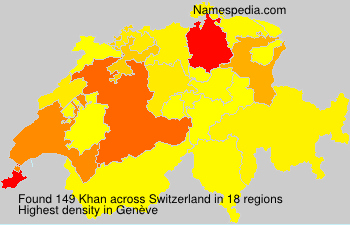 Surname Khan in Switzerland