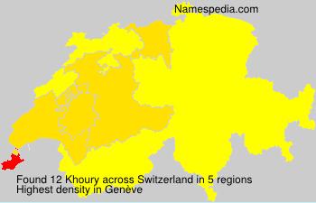 Surname Khoury in Switzerland
