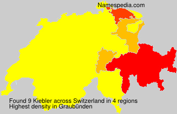 Surname Kiebler in Switzerland