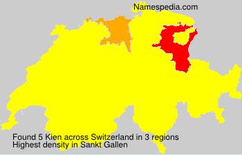 Surname Kien in Switzerland
