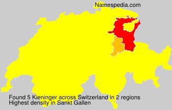 Surname Kieninger in Switzerland