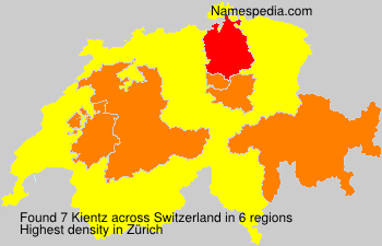 Surname Kientz in Switzerland