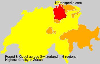 Surname Kiesel in Switzerland