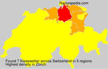 Familiennamen Kiesewetter - Switzerland
