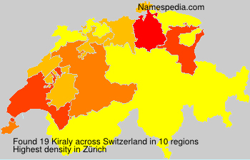 Surname Kiraly in Switzerland