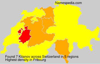 Surname Kitanov in Switzerland