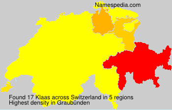 Surname Klaas in Switzerland