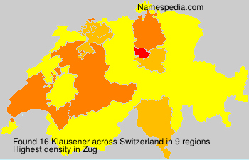 Surname Klausener in Switzerland