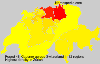 Surname Klausner in Switzerland