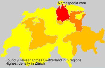 Surname Kleiser in Switzerland