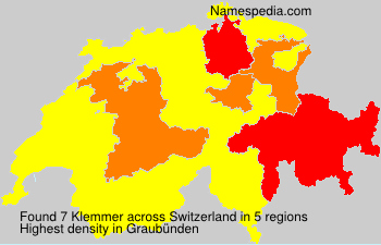 Surname Klemmer in Switzerland