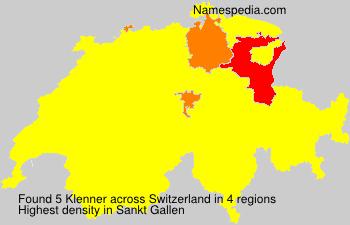 Familiennamen Klenner - Switzerland