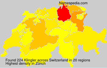 Surname Klingler in Switzerland