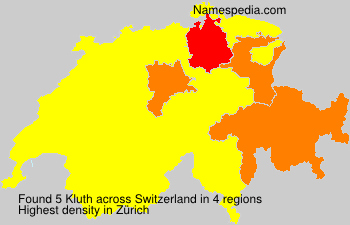 Surname Kluth in Switzerland