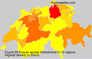 Surname Knauer in Switzerland