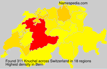 Surname Knuchel in Switzerland